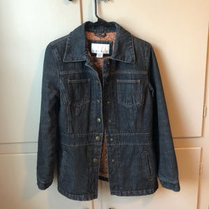 Nine West Denim Jacket with Quilted Lining